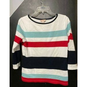 NWT Size XS Brooks Brothers Red Fleece Striped Top